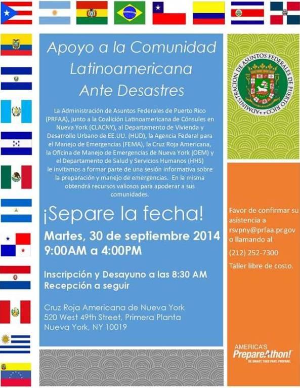 Apoyo a la cominidad latinoamericana ante desastres